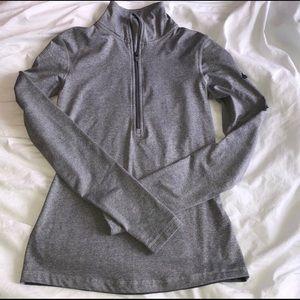 Nike 3/4 zip grey pullover